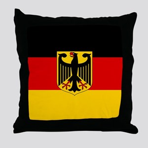 Flag: German & Coat of Arms Throw Pillow