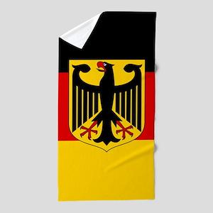 Flag: German & Coat of Arms Beach Towel