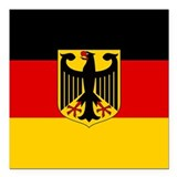 German eagle Square Car Magnets