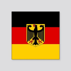 """Flag: German & Coat of Arms Square Sticker 3"""" x 3"""""""