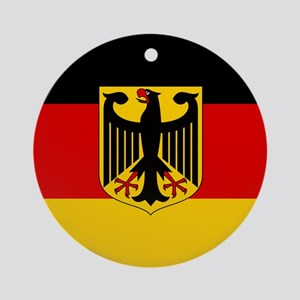 Flag: German & Coat of Arms Round Ornament