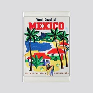 Mexico West Coast Rectangle Magnet