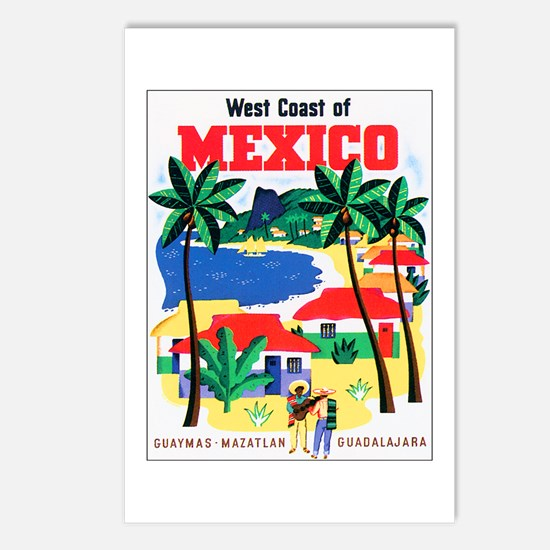 Mexico West Coast Postcards (Package of 8)