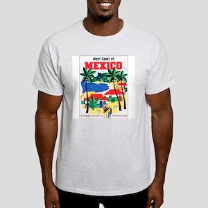 Mexico West Coast (Front) Ash Grey T-Shirt