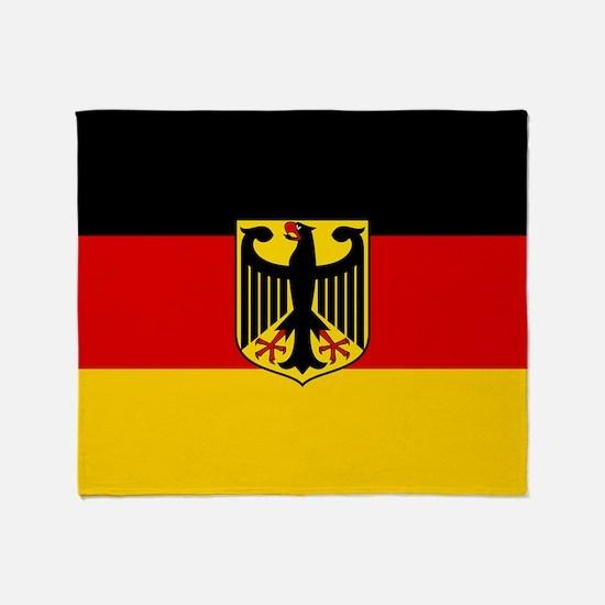 Flag: German & Coat of Arms Throw Blanket