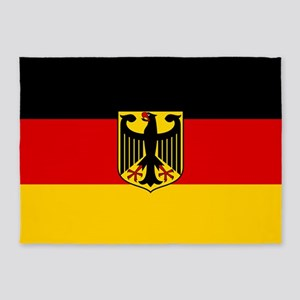 Flag: German & Coat of Arms 5'x7'Area Rug