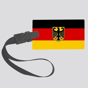 Flag: German & Coat of Arms Large Luggage Tag