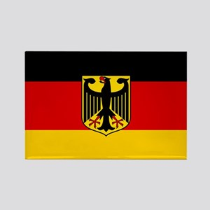 Flag: German & Coat of Arms Rectangle Magnet