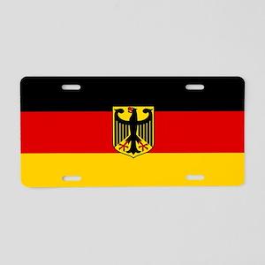 Flag: German & Coat of Arms Aluminum License Plate