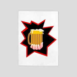 Beer Mug Burst 5'x7'Area Rug