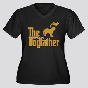 Schapendoes Women's Plus Size V-Neck Dark T-Shirt