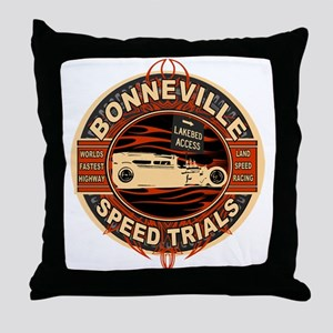 BONNEVILLE SALT FLAT TRIBUTE Throw Pillow