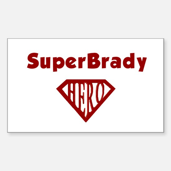 Super Hero Brady Rectangle Decal