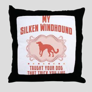 Silken Windhound Throw Pillow