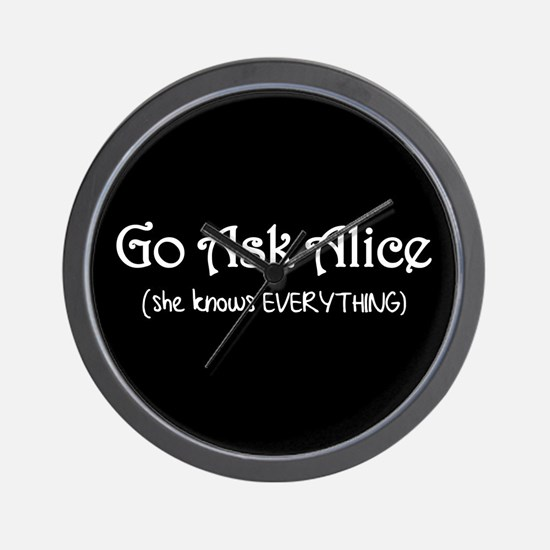 Go Ask Alice Twilight Wall Clock