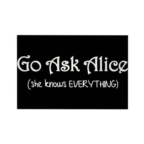 Go Ask Alice Twilight Rectangle Magnet (100 pack)