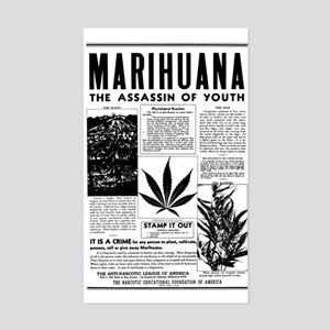 MARIHUANA: The Assassin of Youth Sticker (Rectangl