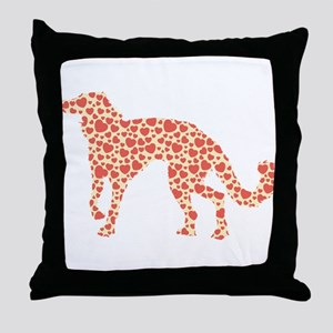 Silken Windhound Throw Pillow