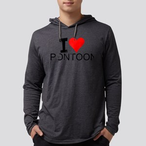 I Love Pontooning Long Sleeve T-Shirt