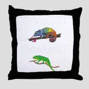 Lizard Chamelon Chamelof Funny Chamel Throw Pillow