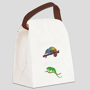 Lizard Chamelon Chamelof Funny Ch Canvas Lunch Bag