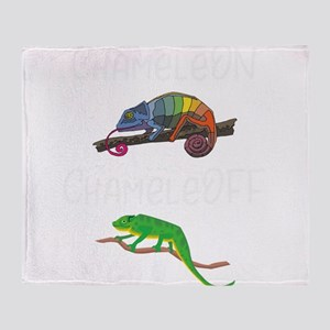 Lizard Chamelon Chamelof Funny Chame Throw Blanket