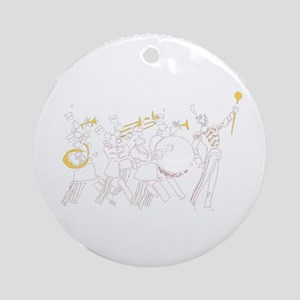March Marching Band Birthday No Coi Round Ornament