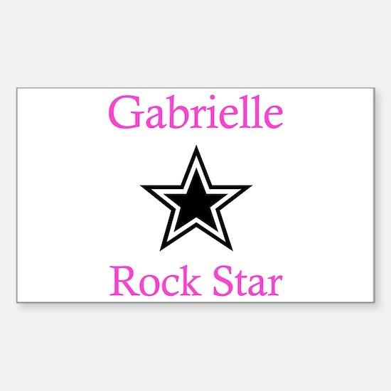 Gabrielle - Rock Star Rectangle Decal