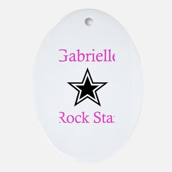 Gabrielle - Rock Star Oval Ornament