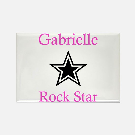 Gabrielle - Rock Star Rectangle Magnet