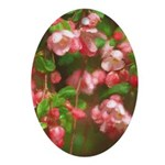 Pink Blossoms Oval Ornament