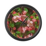 Pink Blossoms Large Wall Clock
