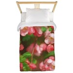 Pink Blossoms Twin Duvet Cover