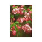 Pink Blossoms Rectangle Magnet