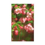 Pink Blossoms Sticker (Rectangle)