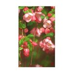 Pink Blossoms Sticker (Rectangle 10 pk)