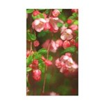 Pink Blossoms Sticker (Rectangle 50 pk)