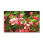 Pink Blossoms Car Magnet 20 x 12