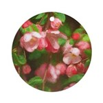 Pink Blossoms Round Ornament