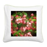 Pink Blossoms Square Canvas Pillow