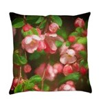 Pink Blossoms Everyday Pillow