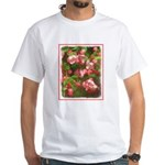 Pink Blossoms White T-Shirt