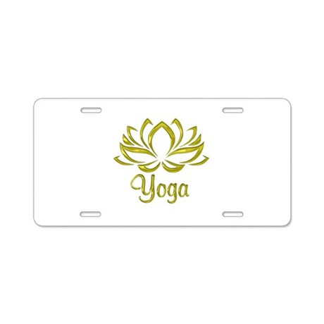 yoga lotus flower aluminum license plate by admin cp10911760