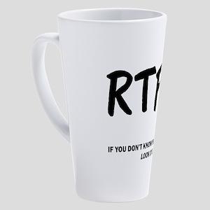 Read The F***ing Manual! 17 oz Latte Mug