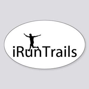 iRunTrails Oval Sticker
