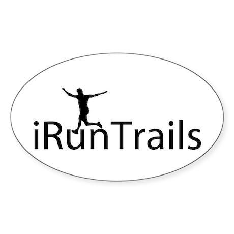 iRunTrails Oval Sticker