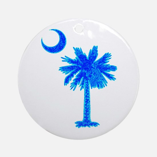 PALM AND CRESCENT Round Ornament