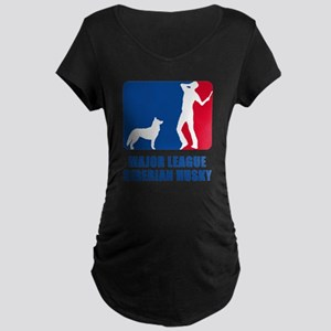Siberian Husky Maternity Dark T-Shirt