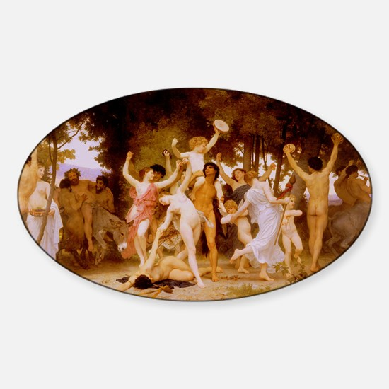 Youth of Bacchus Oval Decal
