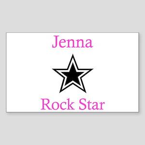 Jenna - Rock Star Rectangle Sticker